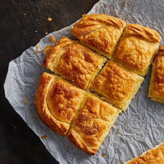 Leek & Greek Feta cheese (PDO), Korelas pies