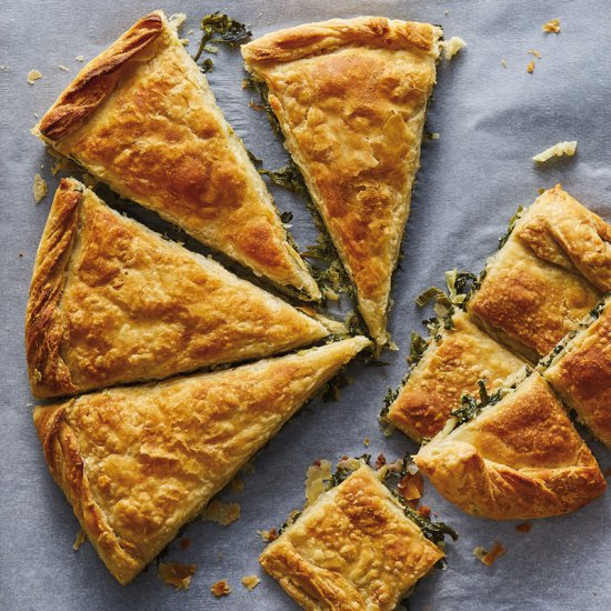 Fresh spinach, leek & onion, Korelas pies