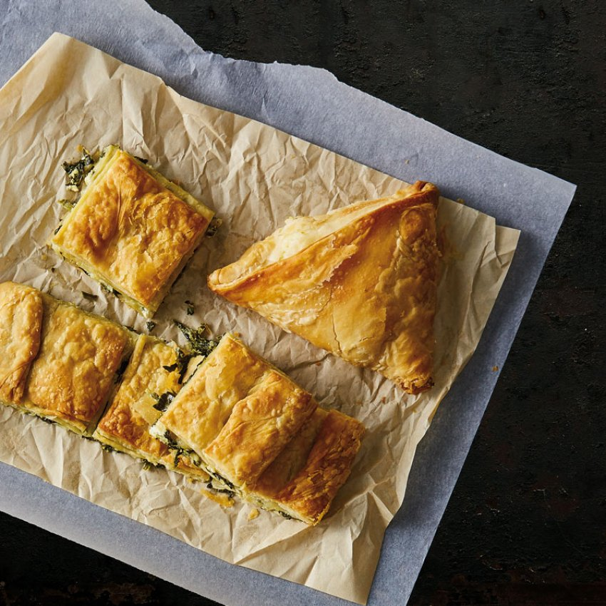 Fresh spinach & Greek Feta cheese (PDO), Korelas pies